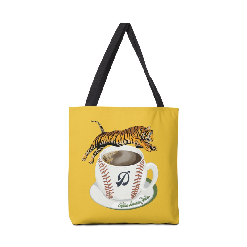 Coffee Breaking Ball! Tiger and D! Accessories Bag by BullShirtCo
