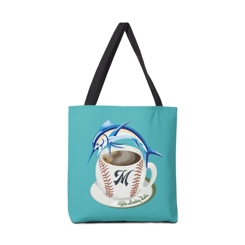 Coffee Breaking Ball! Marlin with M Accessories Bag by BullShirtCo