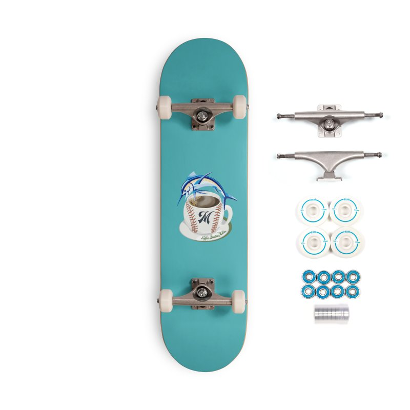 Coffee Breaking Ball! Marlin with M Accessories Skateboard by BullShirtCo