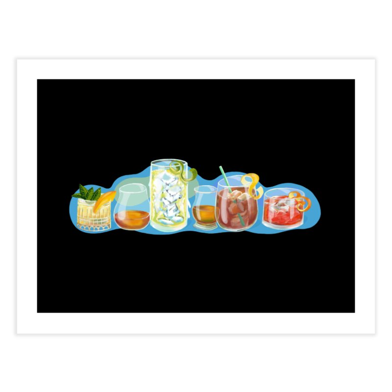 Cool Drinks! Home Fine Art Print by BullShirtCo