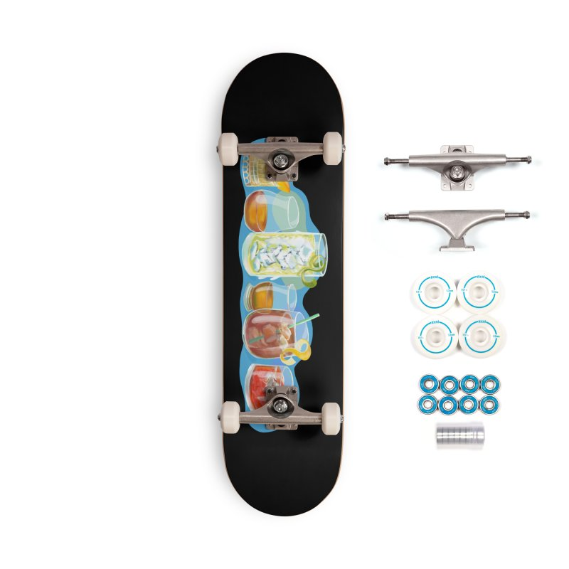 Cool Drinks! Accessories Skateboard by BullShirtCo