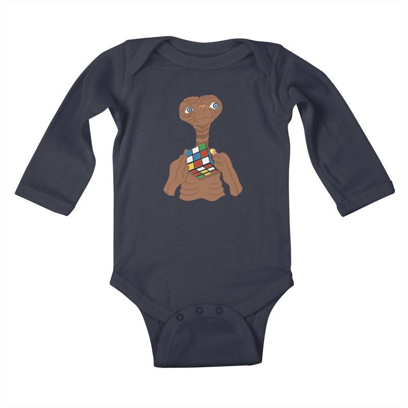 E.T. Needs Help! Kids Baby Longsleeve Bodysuit by BullShirtCo