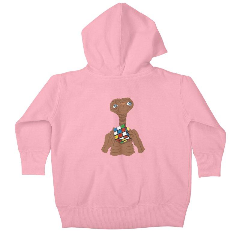 E.T. Needs Help! Kids Baby Zip-Up Hoody by BullShirtCo