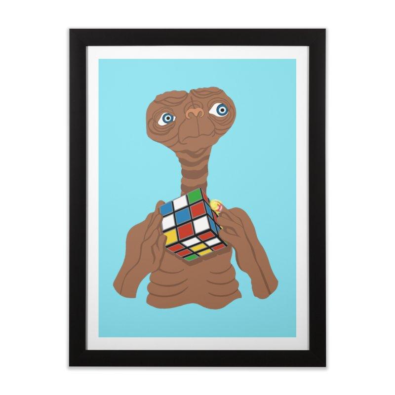 E.T. Needs Help! Home Framed Fine Art Print by BullShirtCo