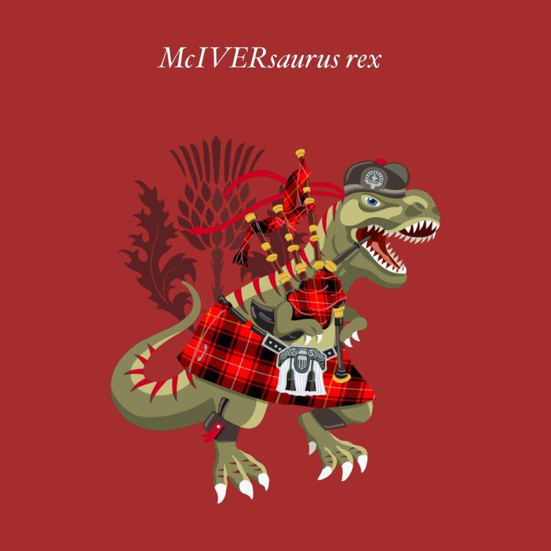 Clanosaurus Rex McIVERsaurus rex MacIver McIver McIvor MacIvor Tartan Men's Sweatshirt by BullShirtCo
