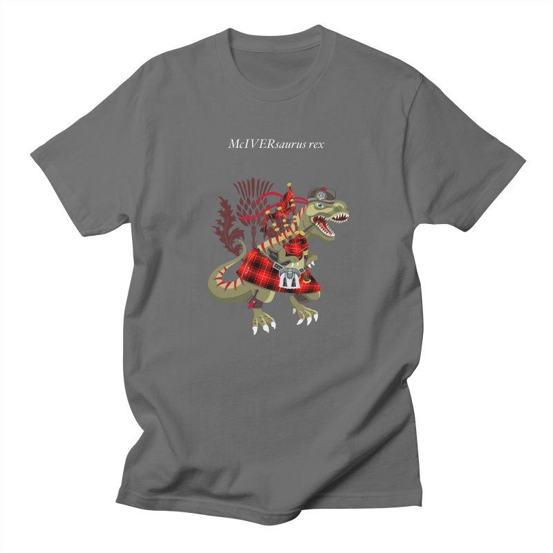 Clanosaurus Rex McIVERsaurus rex MacIver McIver McIvor MacIvor Tartan Men's T-Shirt by BullShirtCo