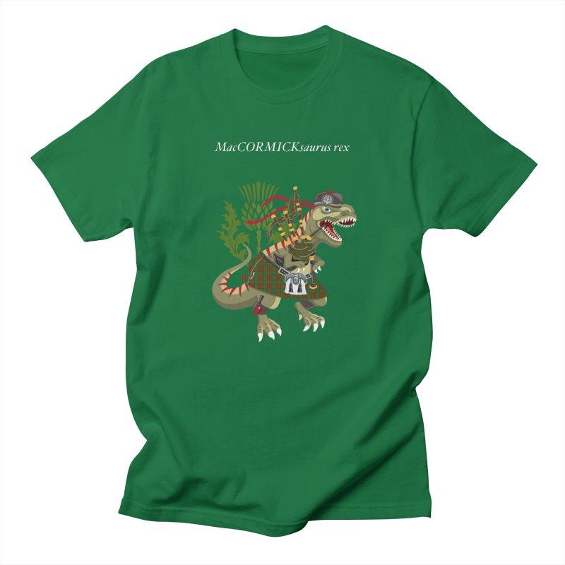 Clanosaurus Rex MacCORMICKsaurus rex McCormick MacCormick Tartan Men's T-Shirt by BullShirtCo