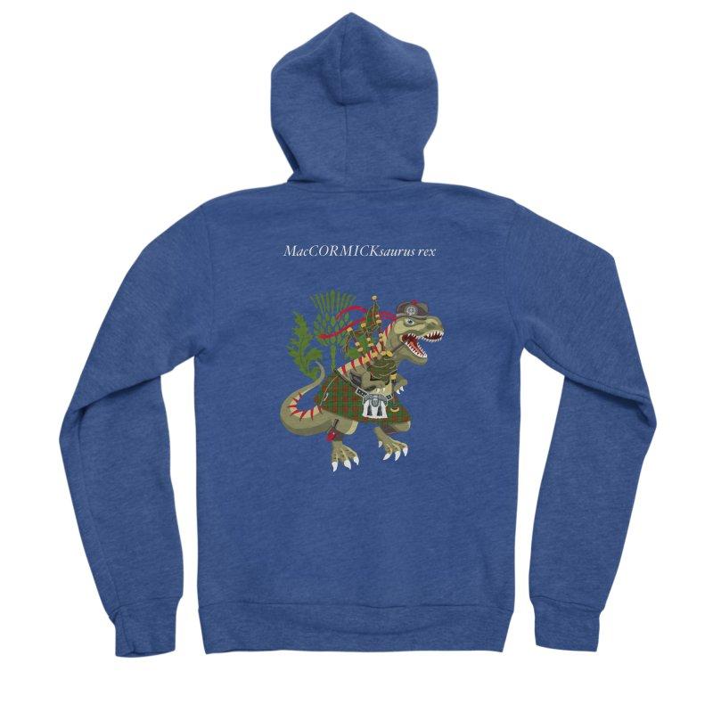 Clanosaurus Rex MacCORMICKsaurus rex McCormick MacCormick Tartan Men's Zip-Up Hoody by BullShirtCo