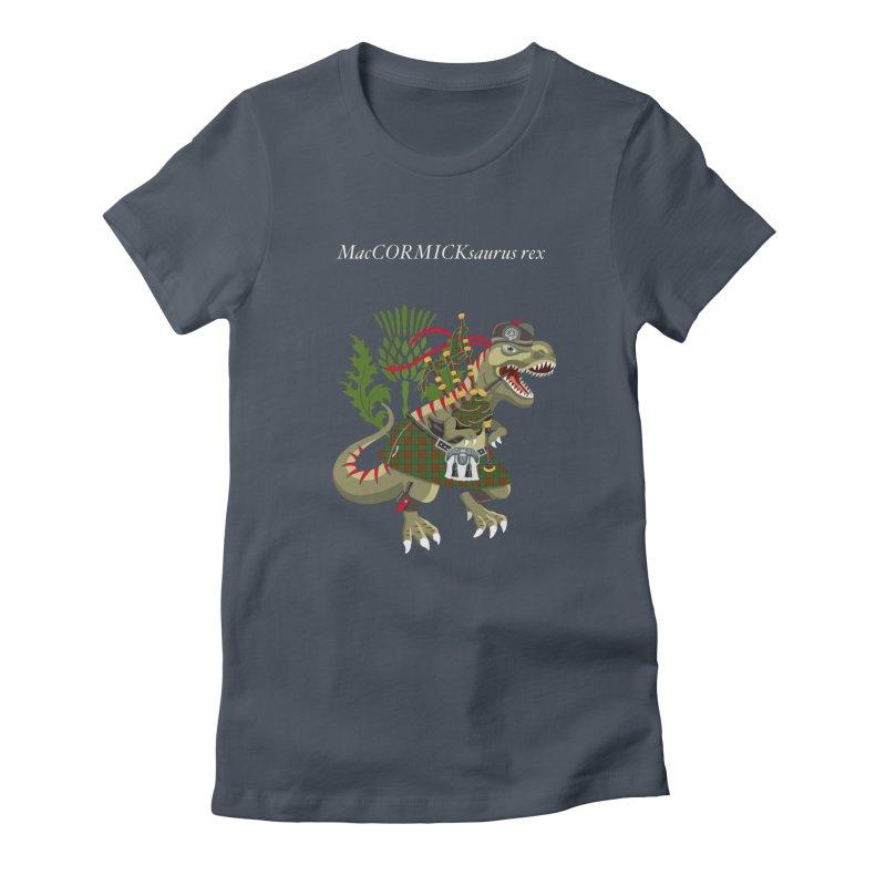 Clanosaurus Rex MacCORMICKsaurus rex McCormick MacCormick Tartan Women's T-Shirt by BullShirtCo