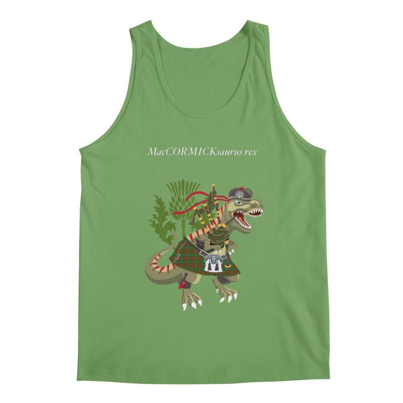 Clanosaurus Rex MacCORMICKsaurus rex McCormick MacCormick Tartan Men's Tank by BullShirtCo
