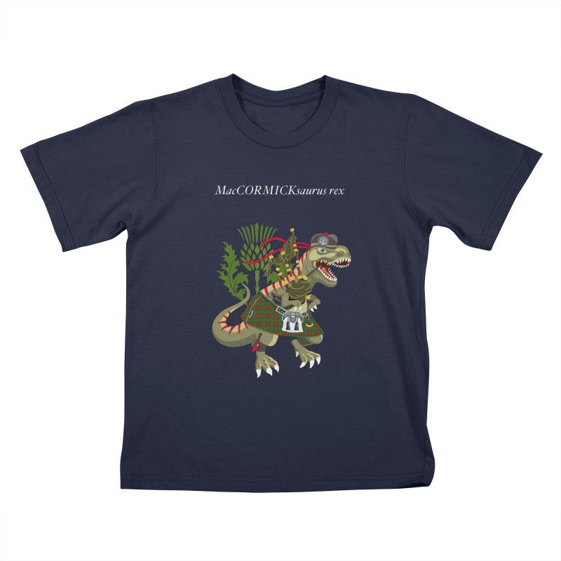 Clanosaurus Rex MacCORMICKsaurus rex McCormick MacCormick Tartan Kids T-Shirt by BullShirtCo