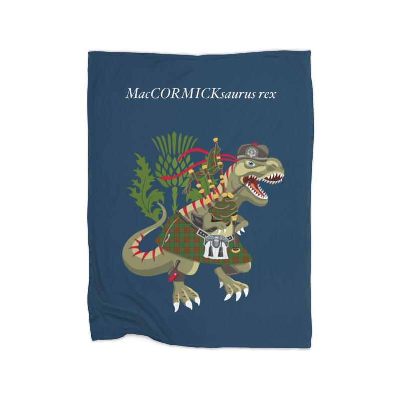 Clanosaurus Rex MacCORMICKsaurus rex McCormick MacCormick Tartan Home Blanket by BullShirtCo