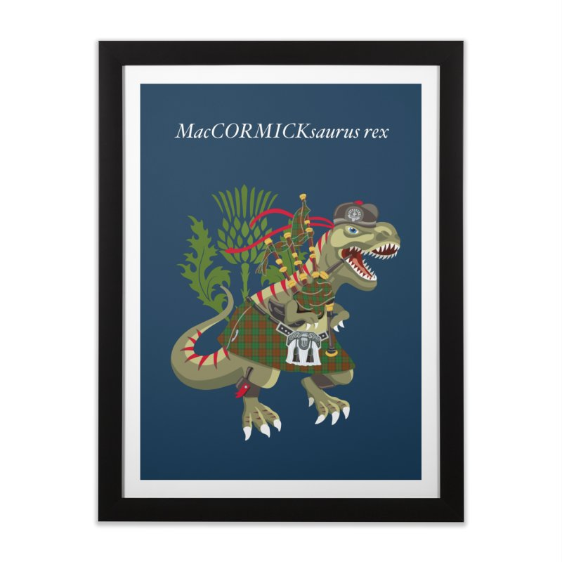 Clanosaurus Rex MacCORMICKsaurus rex McCormick MacCormick Tartan Home Framed Fine Art Print by BullShirtCo