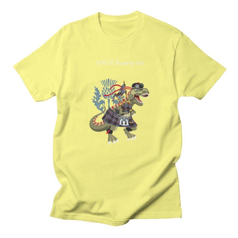 Clanosaurus Rex ANGUSsaurus rex family Angus Tartan Men's T-Shirt by BullShirtCo