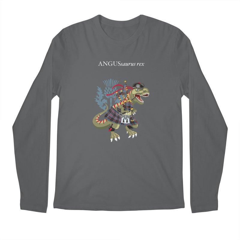 Clanosaurus Rex ANGUSsaurus rex family Angus Tartan Men's Longsleeve T-Shirt by BullShirtCo