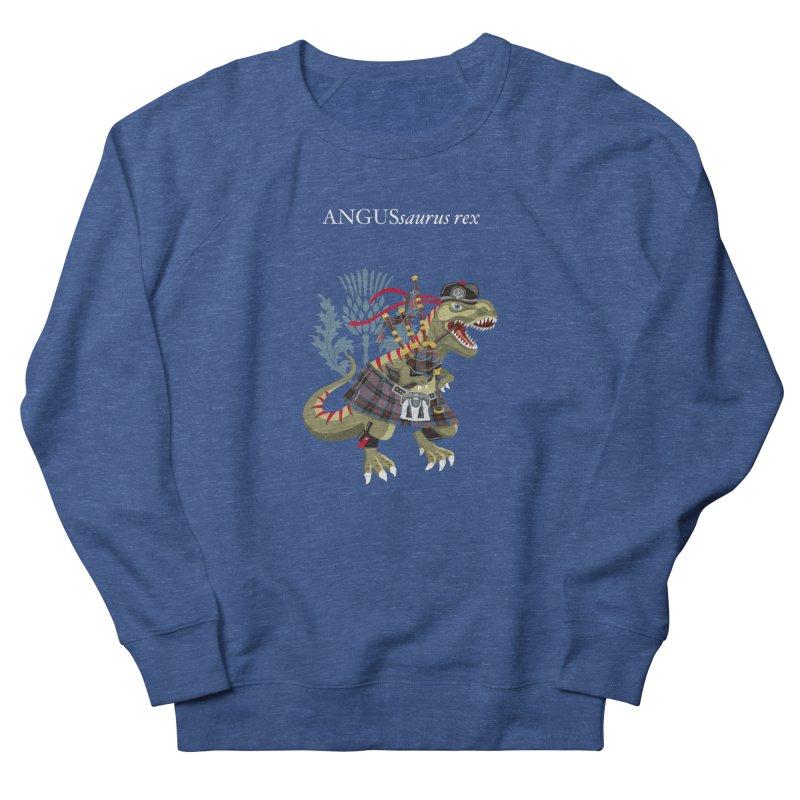 Clanosaurus Rex ANGUSsaurus rex family Angus Tartan Men's Sweatshirt by BullShirtCo