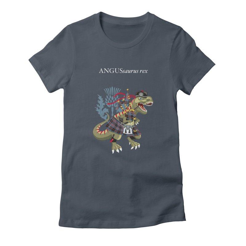 Clanosaurus Rex ANGUSsaurus rex family Angus Tartan Women's T-Shirt by BullShirtCo