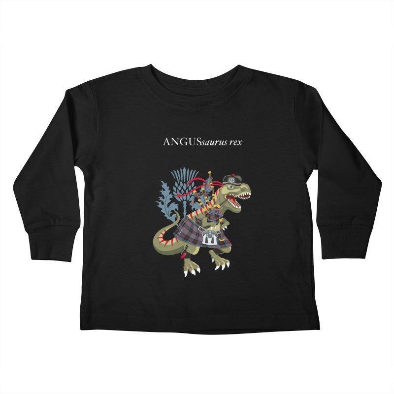 Clanosaurus Rex ANGUSsaurus rex family Angus Tartan Kids Toddler Longsleeve T-Shirt by BullShirtCo