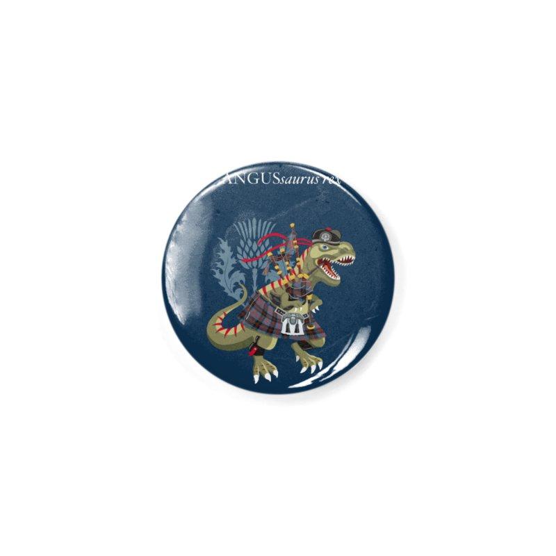 Clanosaurus Rex ANGUSsaurus rex family Angus Tartan Accessories Button by BullShirtCo