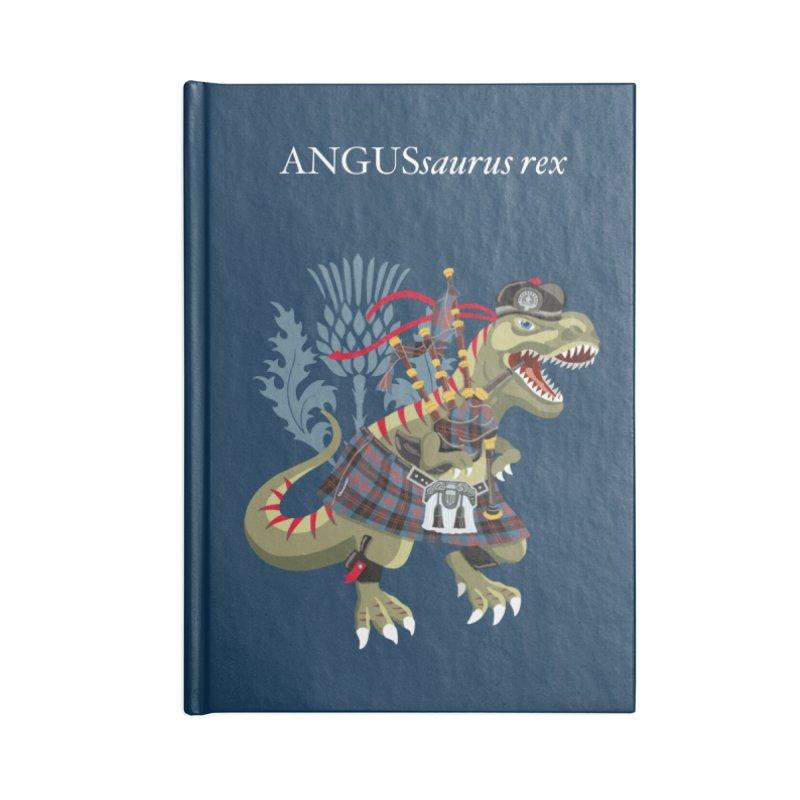 Clanosaurus Rex ANGUSsaurus rex family Angus Tartan Accessories Notebook by BullShirtCo