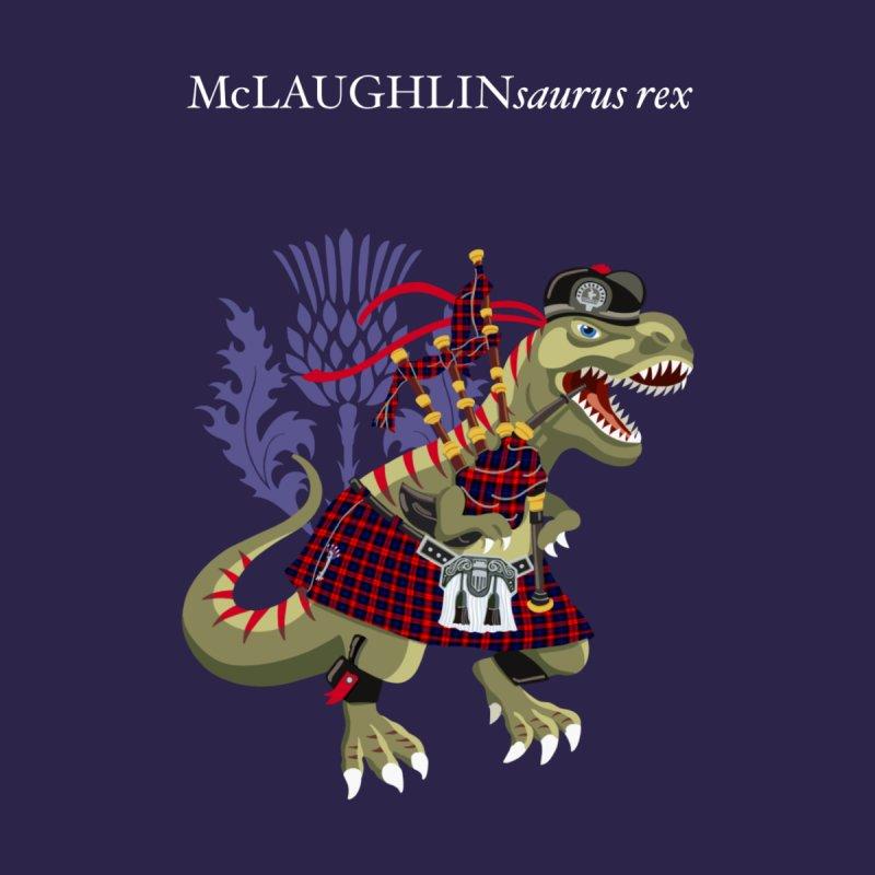 Clanosaurus Rex McLAUGHLINsaurus rex McLaughlin family Tartan Accessories Face Mask by BullShirtCo