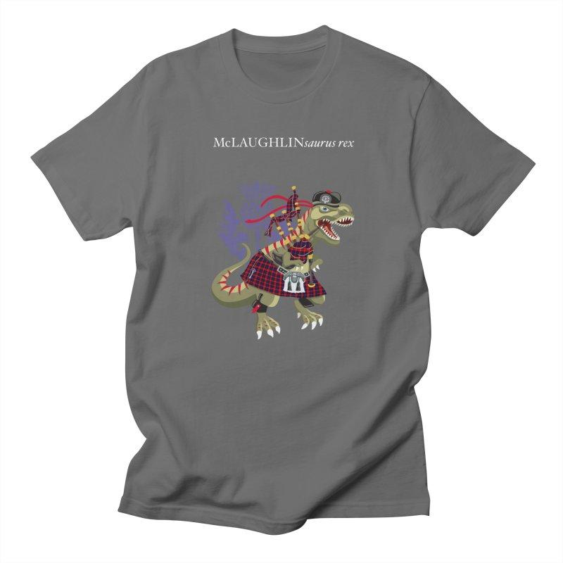 Clanosaurus Rex McLAUGHLINsaurus rex McLaughlin family Tartan Men's T-Shirt by BullShirtCo