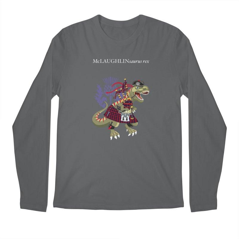 Clanosaurus Rex McLAUGHLINsaurus rex McLaughlin family Tartan Men's Longsleeve T-Shirt by BullShirtCo