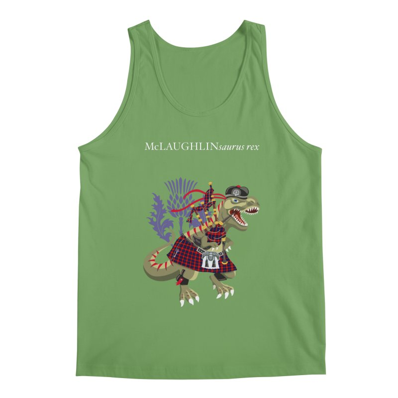 Clanosaurus Rex McLAUGHLINsaurus rex McLaughlin family Tartan Men's Tank by BullShirtCo