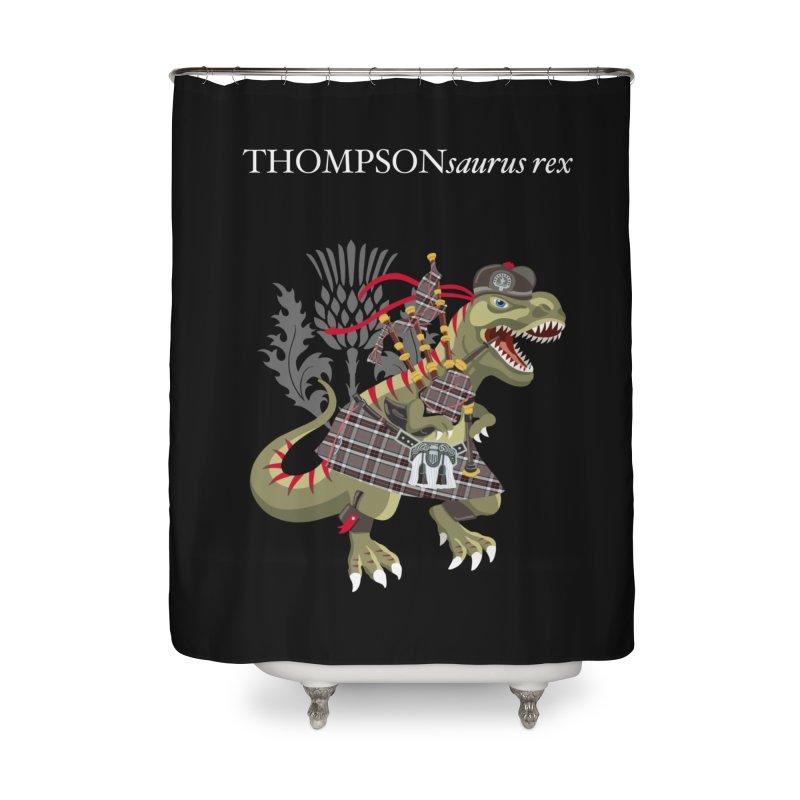 Clanosaurus Rex THOMPSONsaurus rex Thompson Tartan Home Shower Curtain by BullShirtCo