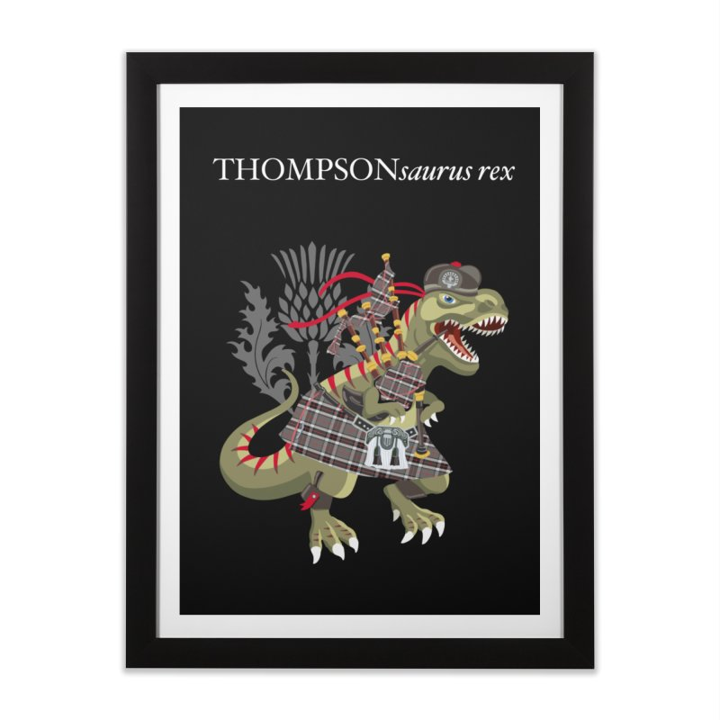 Clanosaurus Rex THOMPSONsaurus rex Thompson Tartan Home Framed Fine Art Print by BullShirtCo