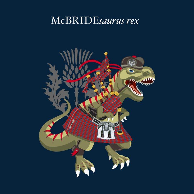 Clanosaurus Rex McBRIDEsaurus rex Plaid McBride MacBride Family Tartan Kids T-Shirt by BullShirtCo