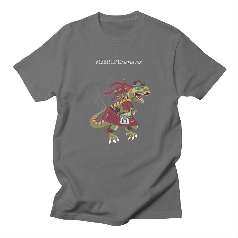 Clanosaurus Rex McBRIDEsaurus rex Plaid McBride MacBride Family Tartan Men's T-Shirt by BullShirtCo