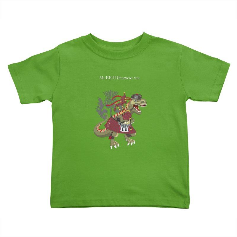 Clanosaurus Rex McBRIDEsaurus rex Plaid McBride MacBride Family Tartan Kids Toddler T-Shirt by BullShirtCo