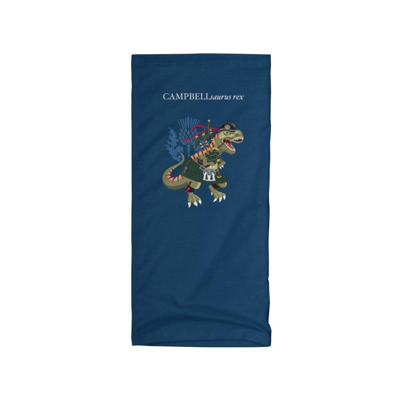 Clanosaurus Rex CAMPBELLsaurus rex Campbell Green Tartan plaid Accessories Neck Gaiter by BullShirtCo