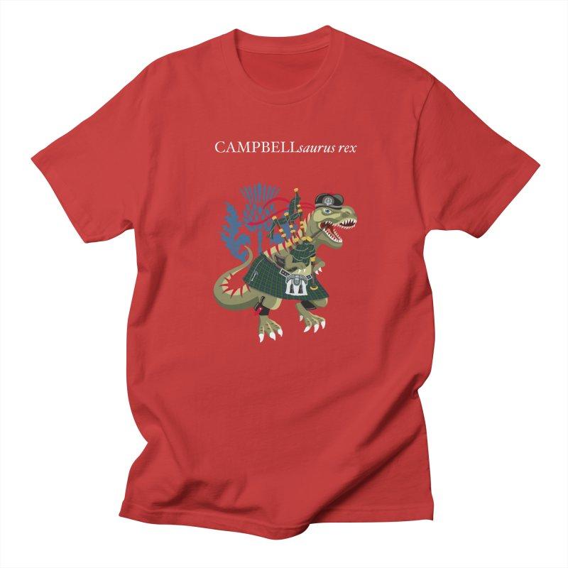 Clanosaurus Rex CAMPBELLsaurus rex Campbell Green Tartan plaid Men's T-Shirt by BullShirtCo