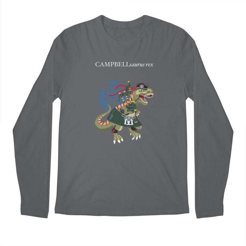 Clanosaurus Rex CAMPBELLsaurus rex Campbell Green Tartan plaid Men's Longsleeve T-Shirt by BullShirtCo