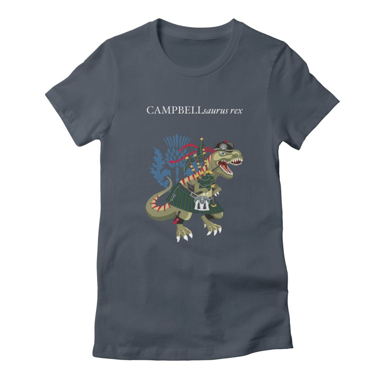 Clanosaurus Rex CAMPBELLsaurus rex Campbell Green Tartan plaid Women's T-Shirt by BullShirtCo