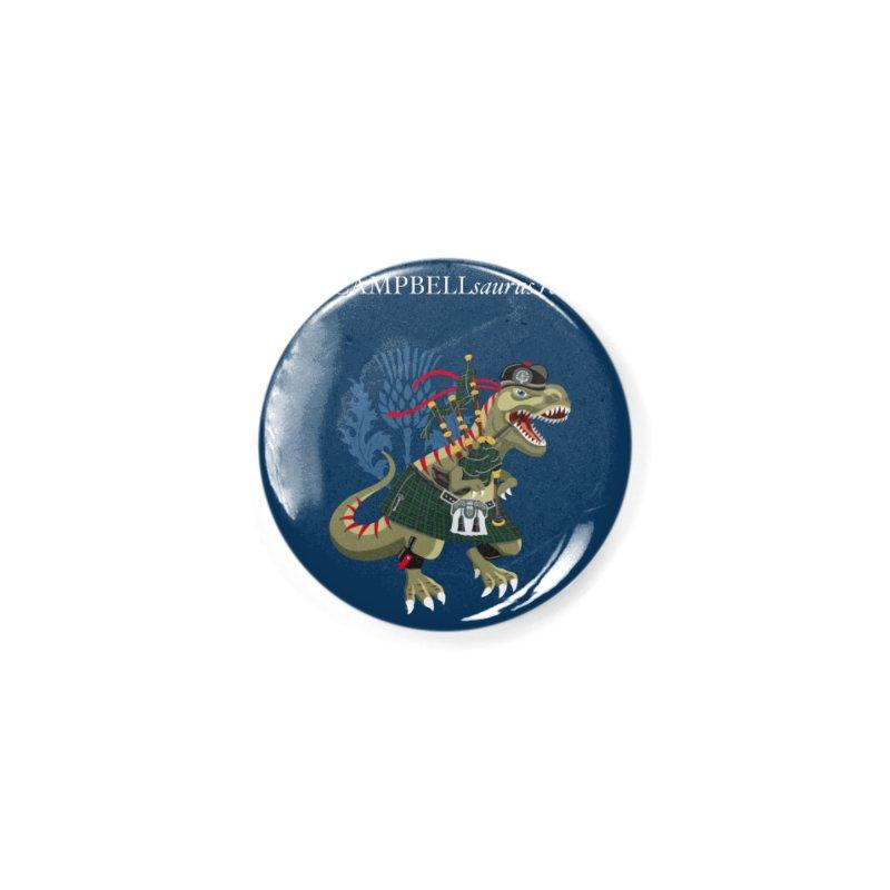 Clanosaurus Rex CAMPBELLsaurus rex Campbell Green Tartan plaid Accessories Button by BullShirtCo
