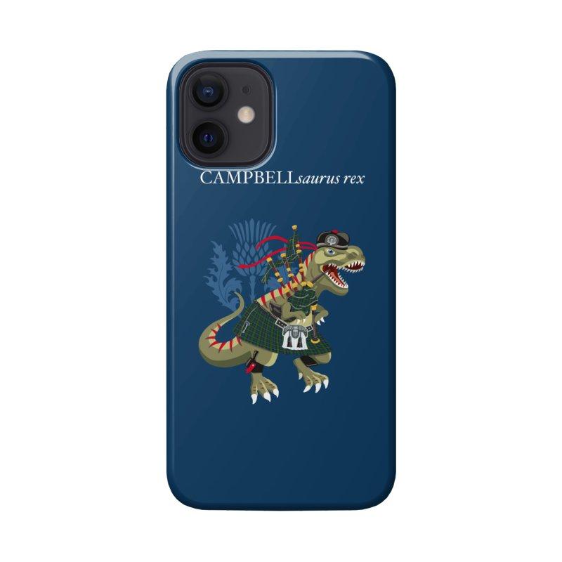 Clanosaurus Rex CAMPBELLsaurus rex Campbell Green Tartan plaid Accessories Phone Case by BullShirtCo