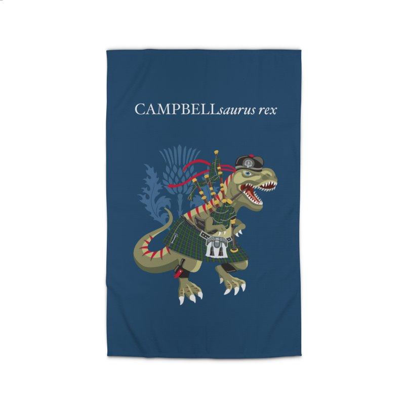 Clanosaurus Rex CAMPBELLsaurus rex Campbell Green Tartan plaid Home Rug by BullShirtCo