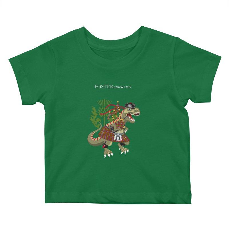 Clanosaurus Rex FOSTERsaurus rex Foster Forester Forster Forrester Tartan Kids Baby T-Shirt by BullShirtCo