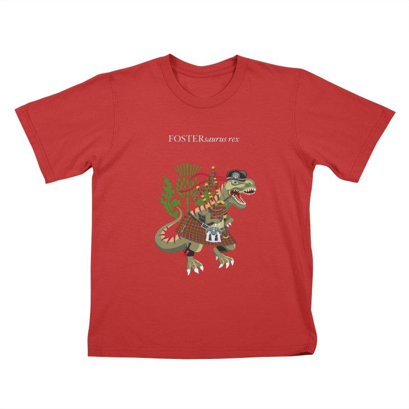 Clanosaurus Rex FOSTERsaurus rex Foster Forester Forster Forrester Tartan Kids T-Shirt by BullShirtCo