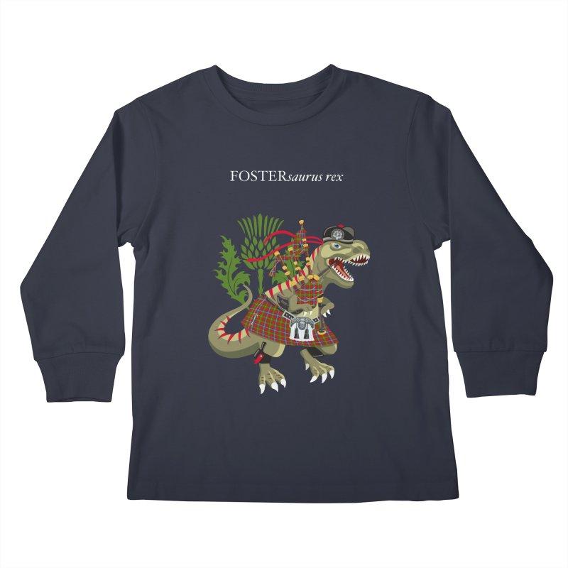 Clanosaurus Rex FOSTERsaurus rex Foster Forester Forster Forrester Tartan Kids Longsleeve T-Shirt by BullShirtCo