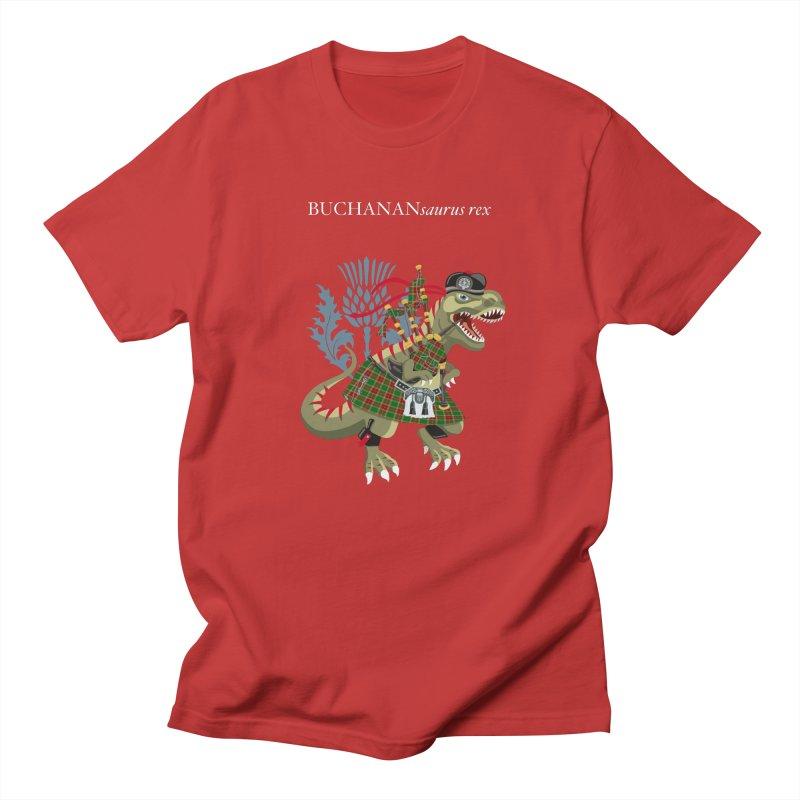 Clanosaurus Rex BUCHANANsaurus rex Buchannan Buchanan modern Tartan Men's T-Shirt by BullShirtCo
