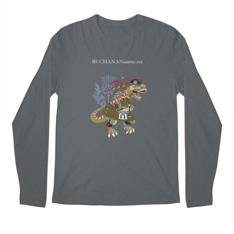 Clanosaurus Rex BUCHANANsaurus rex Buchannan Buchanan modern Tartan Men's Longsleeve T-Shirt by BullShirtCo