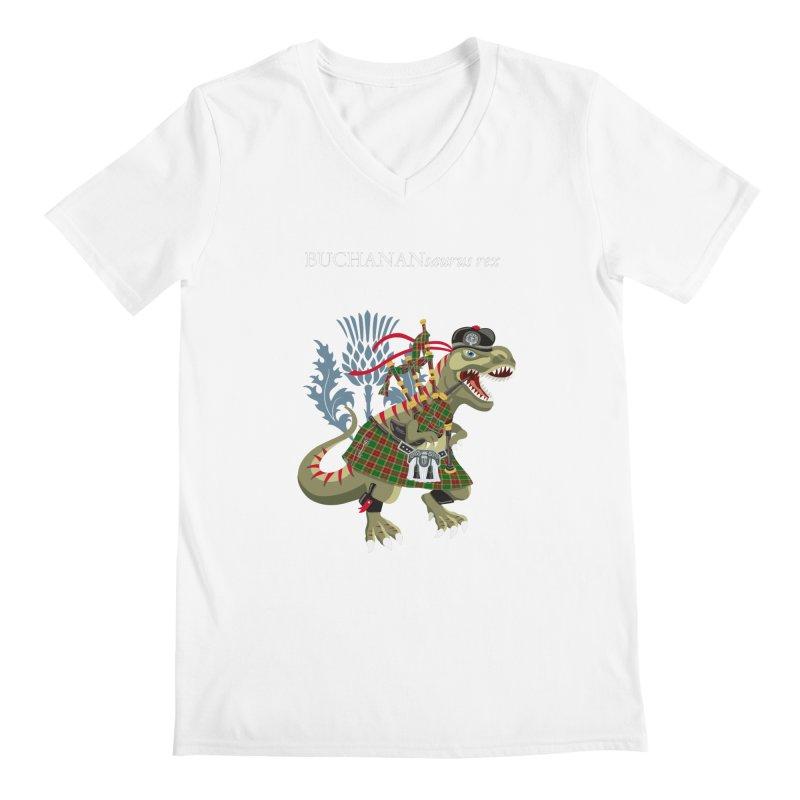 Clanosaurus Rex BUCHANANsaurus rex Buchannan Buchanan modern Tartan Men's V-Neck by BullShirtCo