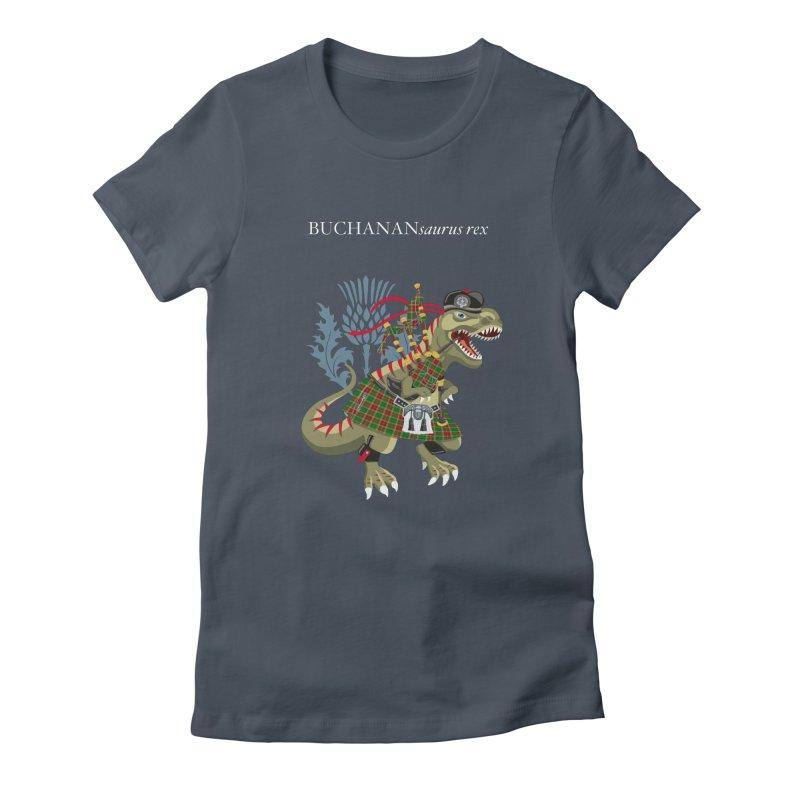 Clanosaurus Rex BUCHANANsaurus rex Buchannan Buchanan modern Tartan Women's T-Shirt by BullShirtCo