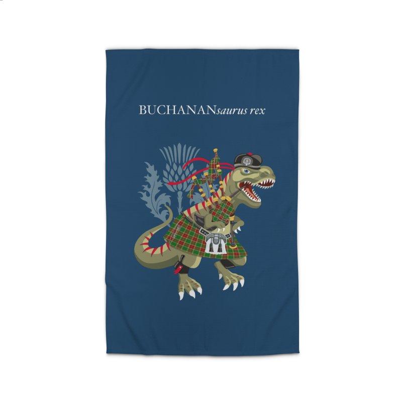 Clanosaurus Rex BUCHANANsaurus rex Buchannan Buchanan modern Tartan Home Rug by BullShirtCo
