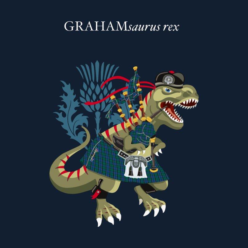 Clanosaurus Rex GRAHAMsauras rex Graham Tartan family Kids T-Shirt by BullShirtCo