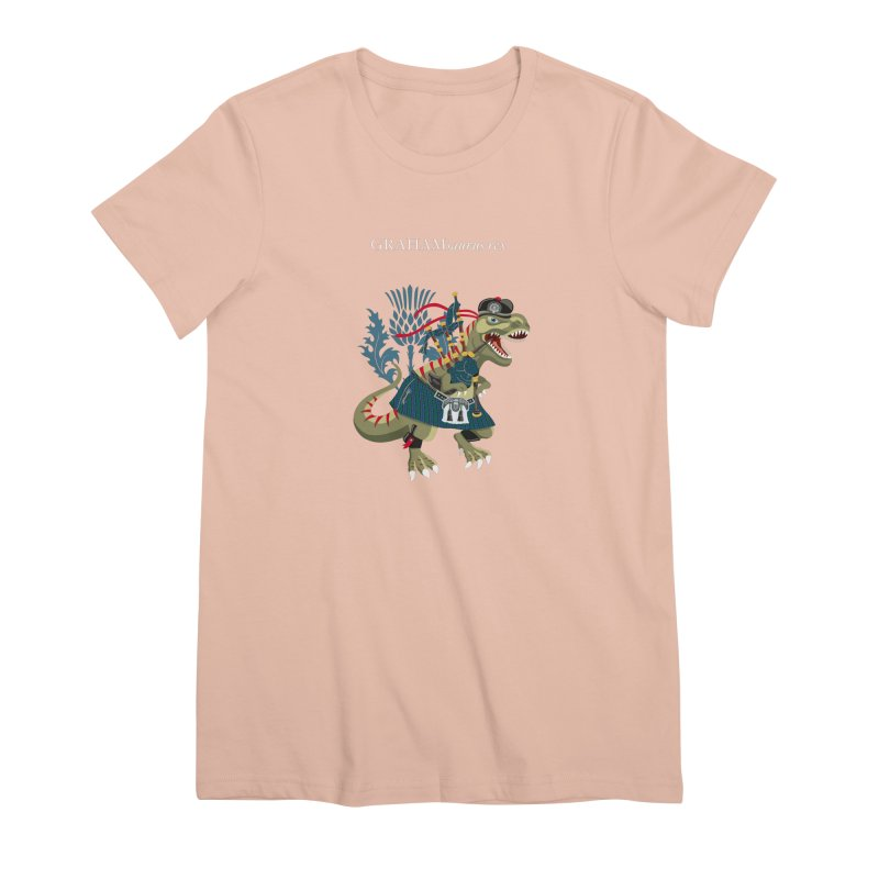 Clanosaurus Rex GRAHAMsauras rex Graham Tartan family Women's T-Shirt by BullShirtCo